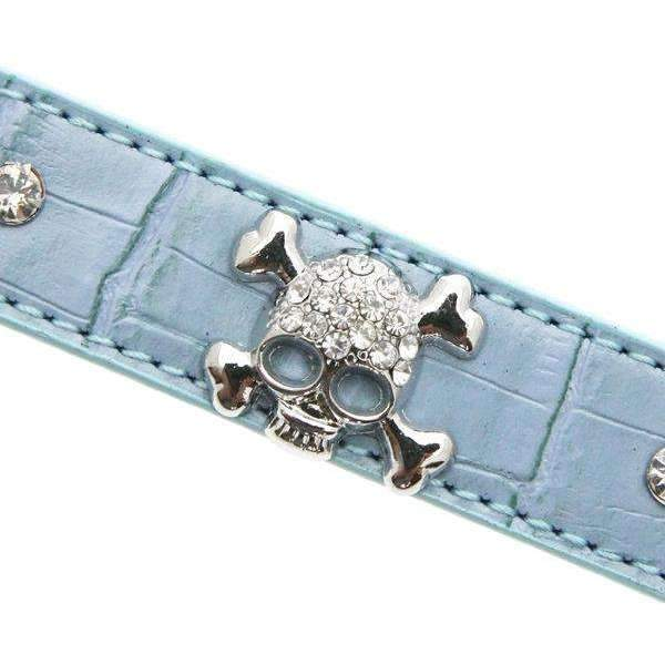Skull and Crossbones Diamante Dog Lead - Posh Pawz Fashion