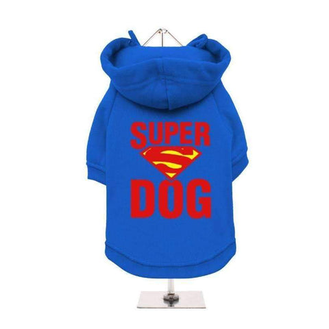 Super Dog Hoodie Sweatshirt - Blue - Posh Pawz Fashion