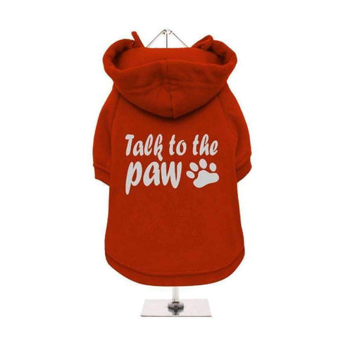 Talk To The Paw Dog Hoodie Sweatshirt - Posh Pawz Fashion