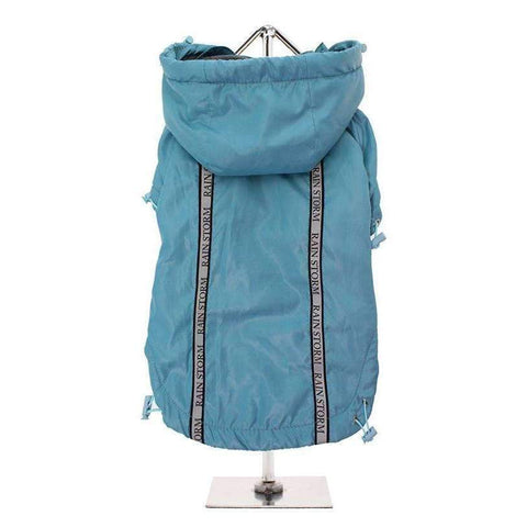 Teal Blue Rainstorm Dog Raincoat - Posh Pawz Fashion