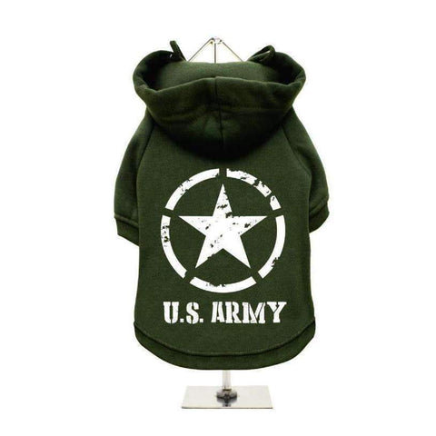 U.S. Army Dog Hoodie Sweatshirt - Posh Pawz Fashion
