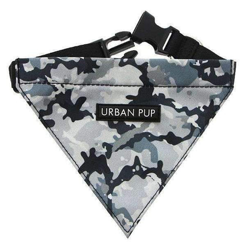 Urban Camouflage Fabric Dog Bandana - Posh Pawz Fashion