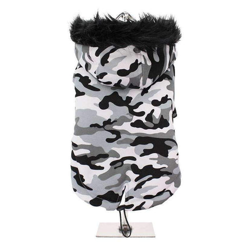 Urban Camouflage Fish Tail Parka Dog Coat - Posh Pawz Fashion