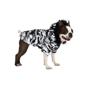 Urban Pup Urban Camouflage Fish Tail Parka Dog Coat - Posh Pawz Fashion
