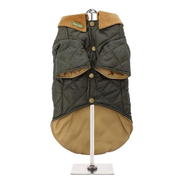 Urban Pup Forest Green Quilted Town And Country Dog Coat - Sale - 3