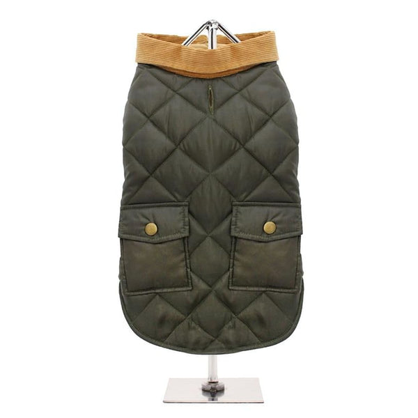 Urban Pup Forest Green Quilted Town And Country Dog Coat - Sale - 2