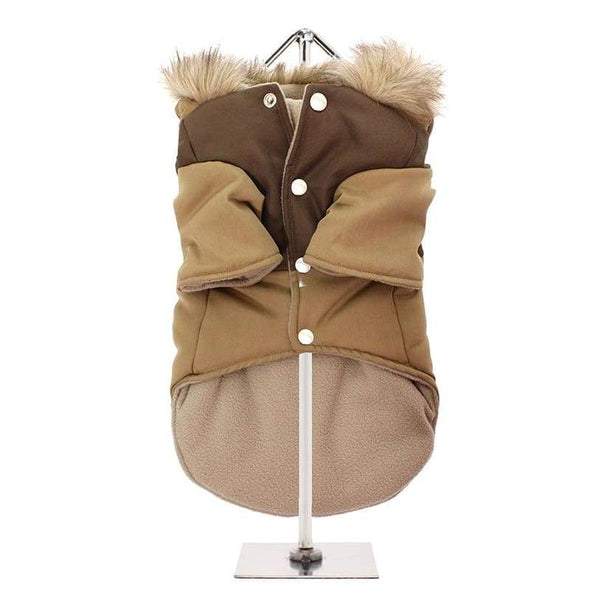 Urban Pup Two Tone Parka Dog Coat Brown - Sale - 3