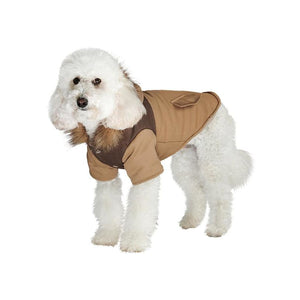 Urban Pup Two Tone Parka Dog Coat Brown - Sale - 1