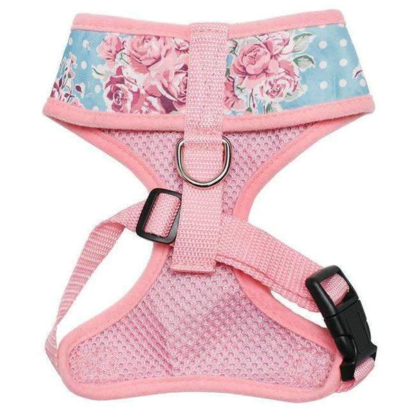 Vintage Rose Floral Dog Harness3 - Posh Pawz Fashion