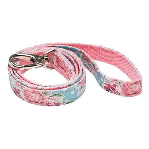 Floral Rose Swarovski Crystal Fabric Dog Lead - Posh Pawz Fashion