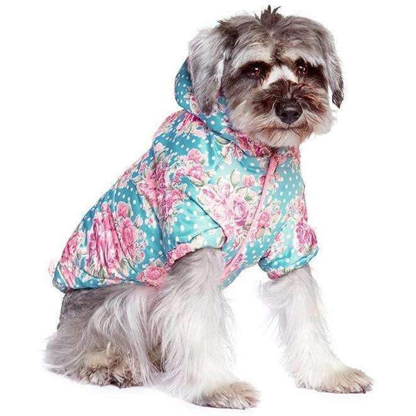 Vintage Rose Floral Quilted Dog Coat3 - Posh Pawz Fashion