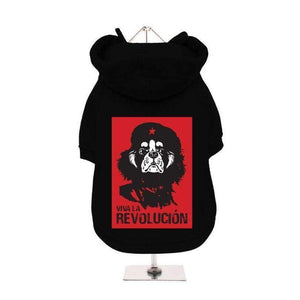 Viva la Revolución Dog Hoodie Sweatshirt - Posh Pawz Fashion