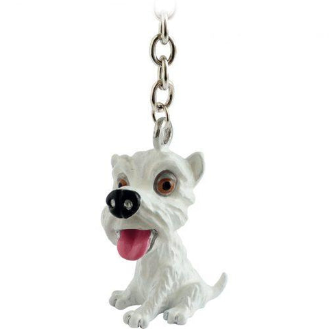Westie Little Paws Keyring Handbag Charm - Posh Pawz Fashion