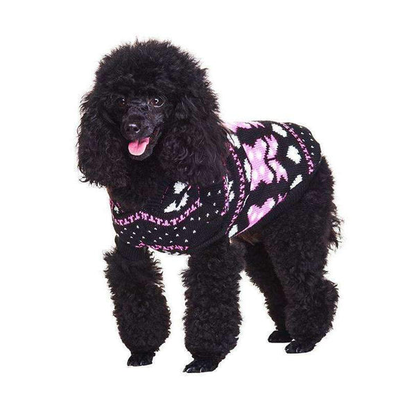 Winter Wonderland Hooded Dog Jumper - Posh Pawz Fashion