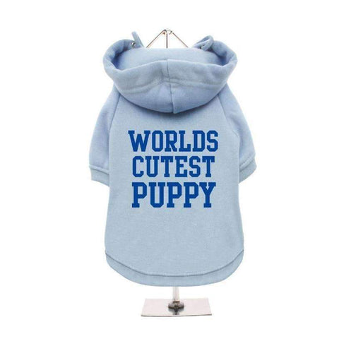 Worlds Cutest Puppy Dog Hoodie Sweatshirt - Baby Blue - Posh Pawz Fashion