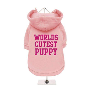 Worlds Cutest Puppy Dog Hoodie Sweatshirt - Baby Pink - Posh Pawz Fashion