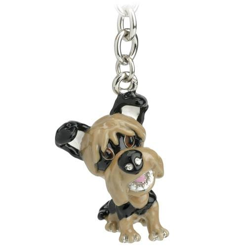 Yorkshire Terrier Little Paws Keyring Handbag Charm - Posh Pawz Fashion