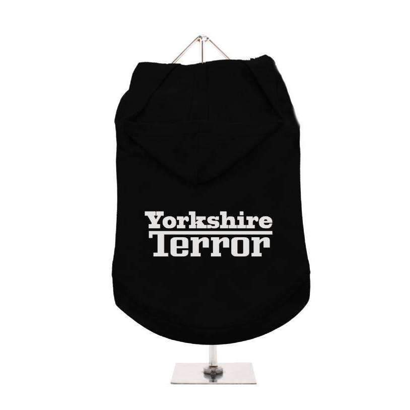 Yorkshire Terror Hooded Dog T-Shirt - Posh Pawz Fashion