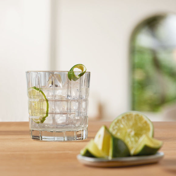 Gin Tumblers, short set of 2 clear 250ml