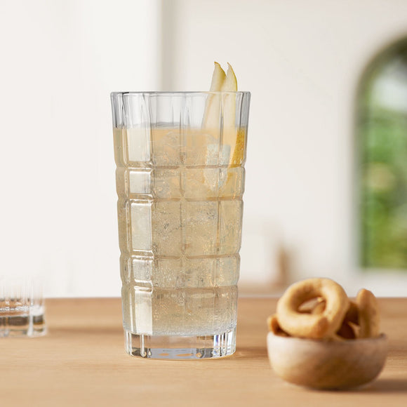 Gin Tumblers, tall set of 2 clear 300ml