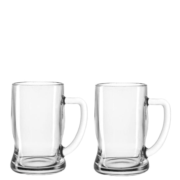 Beer Tankard Glasses, set of 2 small 330ml