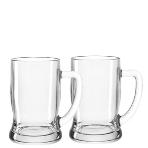 Beer Tankard Glasses, set of 2 large 500ml