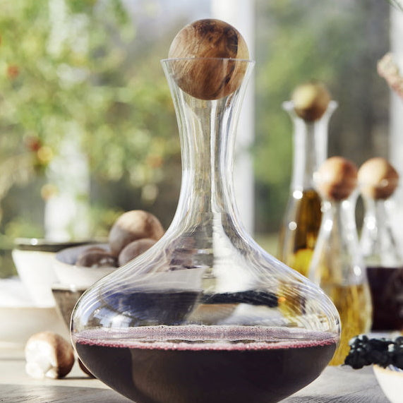 Oak-topped Wine Carafe