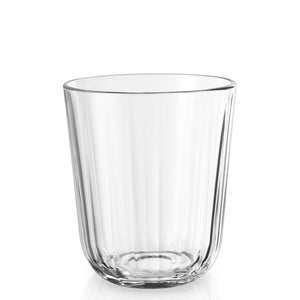 Fluted water tumblers, set of 6 small clear 270ml