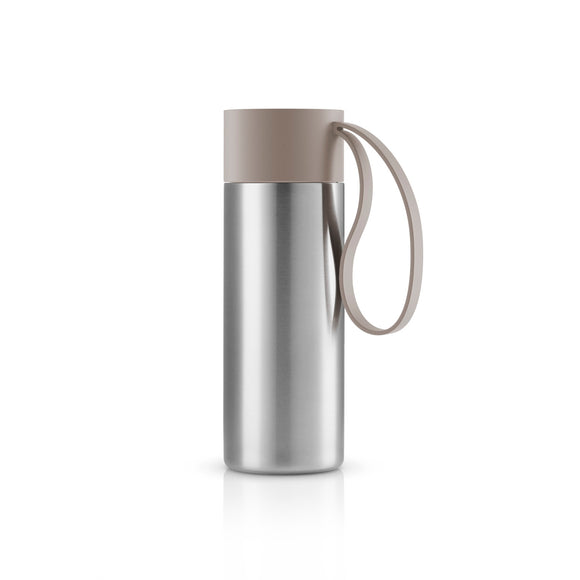 On-The-Go Steel Coffee Flask, Taupe Grey