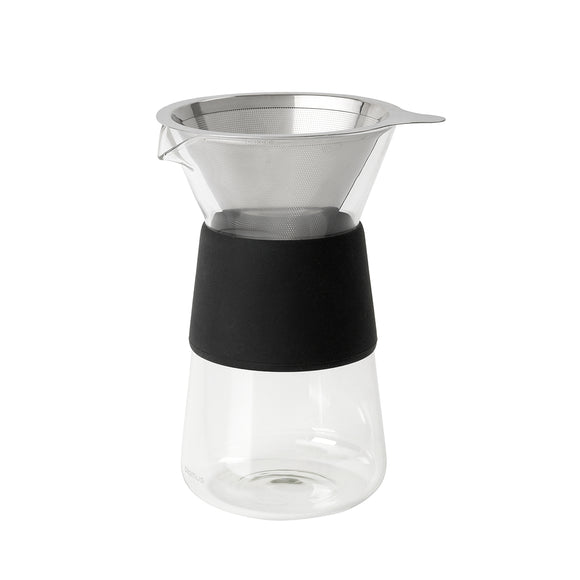 Coffee maker with steel filter