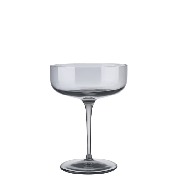 Smoky Champagne Saucer Glasses, set of 4