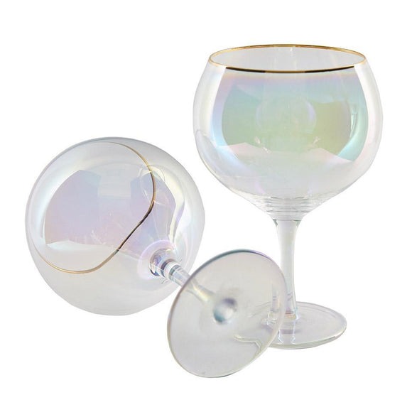 Gold & Pink Gin Cocktail Glasses 750ml, set of 2