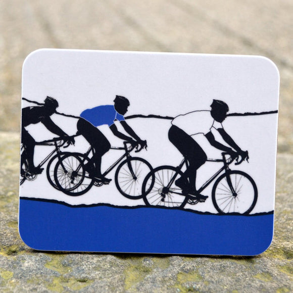 Tour de Yorkshire Cyclists Coaster, blue/grey