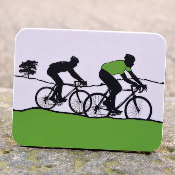 Tour de Yorkshire Cyclists Coaster, green