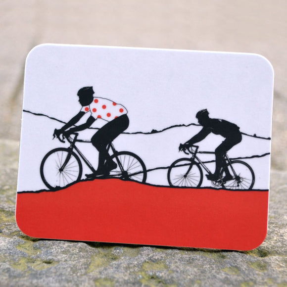Tour de Yorkshire Cyclists Coaster, red