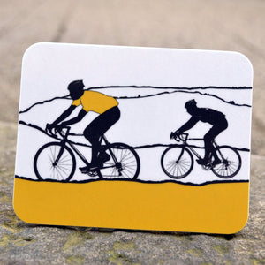 Tour de Yorkshire Cyclists Coaster, yellow