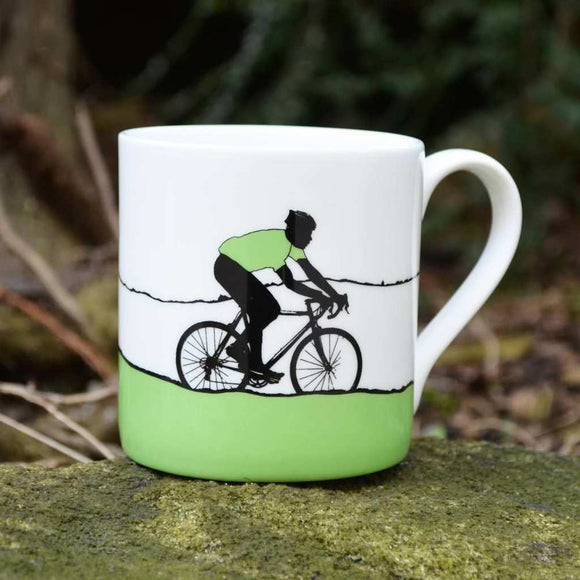 Tour de Yorkshire Cyclists Mug, green