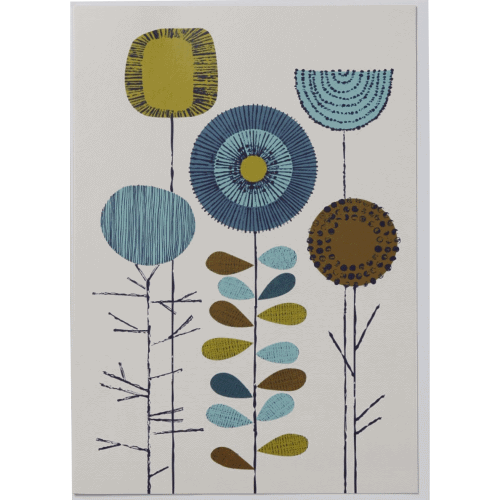 Elouise Greeting Card, white Flowers