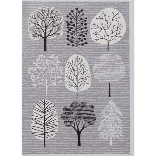Elouise Greeting Card, grey Trees
