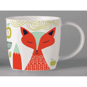 Scandi Folk Mug, white Fox