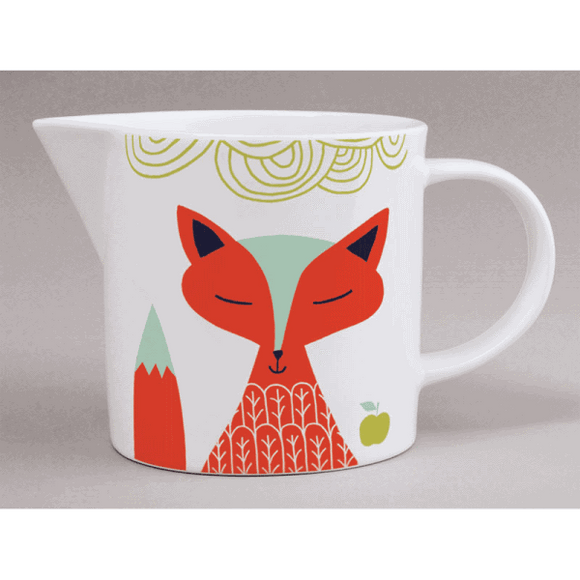 Scandi Folk Jug, white Fox