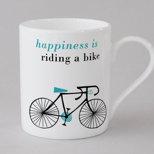 Happy Cycle mini Mug, blue