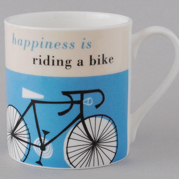 Happy Cycle Mug, blue