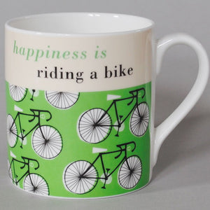 Happy Cycle Mug, green