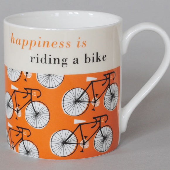 Happy Cycle Mug, orange