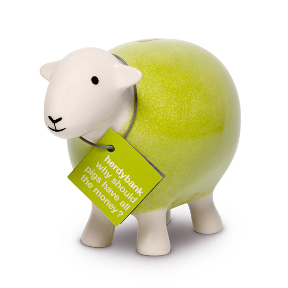 Herdy Sheep Bank, green