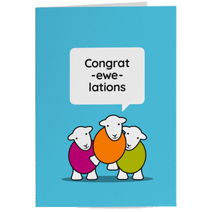 Herdy Greeting Card, Congratulations