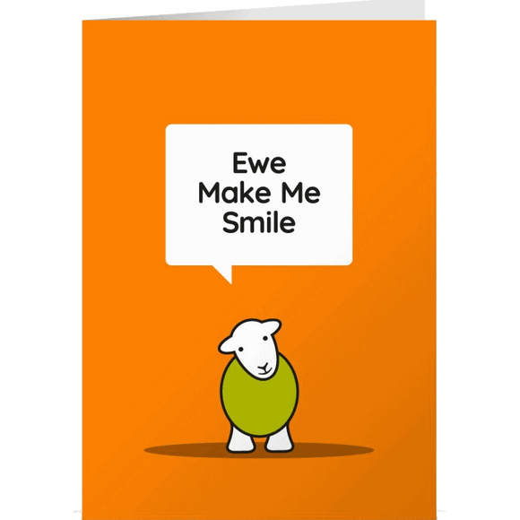 Herdy Greeting Card, Ewe Make Me Smile