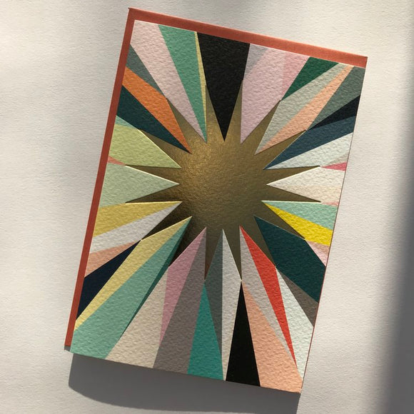 Vincent & Wood Star Greeting Card, multi pastel