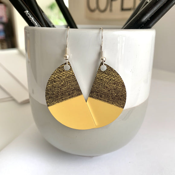 Jenni Balance Arc Earrings, Yellow